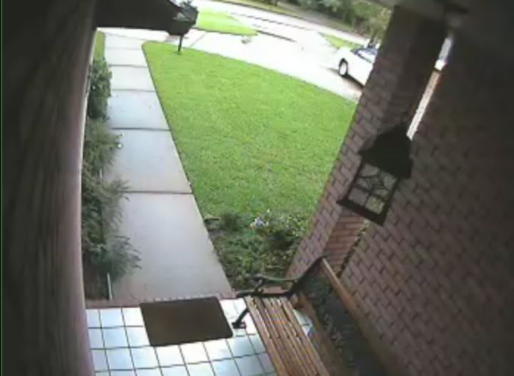 Foggy picture when ir turns on at night cctv forum for Front door video camera