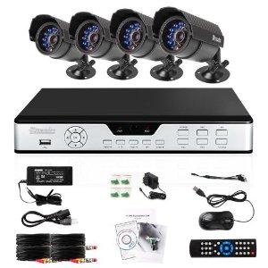 ZMODO 4CH CCTV System Package (PKD-DK4216, DVR H9104V ...