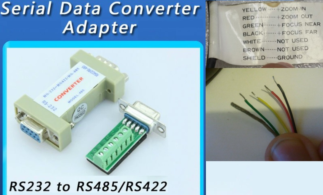 How do you connect Zoom and Focus to a rs232 to rs485/rs422 - • CCTV ...