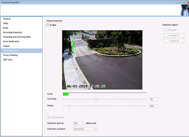 Milestone XProtect Camera vs  Server Motion Detect - IP